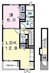 ラフィーネツー[2階]の間取り