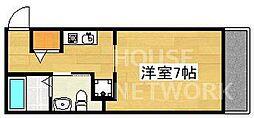 ウエストミンスター御所西(旧suminagi御所西) 4階1Kの間取り