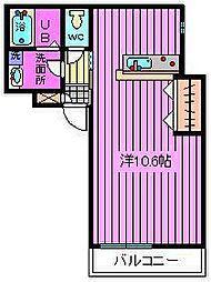 アルファコート戸田公園I[702号室]の間取り