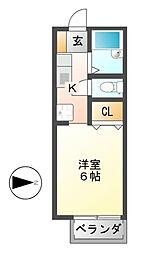 マンハイムスギモト[1階]の間取り