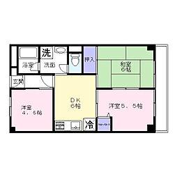 パークサイドマンション[304号室]の間取り