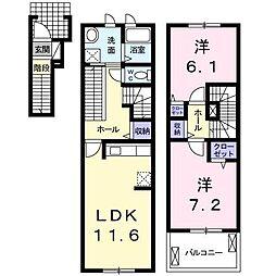 レジデンス大和I[2階]の間取り