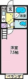 ビスワ金手[2階]の間取り