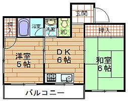 第5向和マンション[3階]の間取り