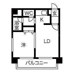 MYプラザ円山公園II[4階]の間取り