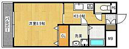 ローズガーデンII[3階]の間取り