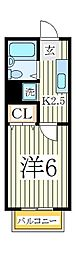 ハーモネイトIII[1階]の間取り