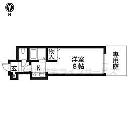 シティコア30朱雀106号室[1階]の間取り