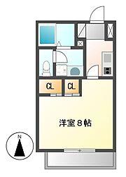 リエス千代田橋[7階]の間取り