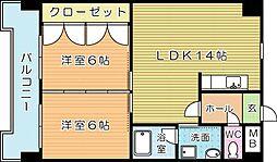 第一鳳城ビル[502号室]の間取り