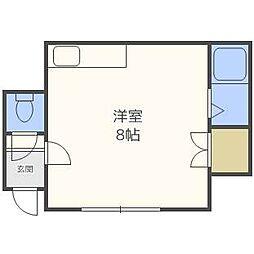 東札幌ハイツE[1階]の間取り