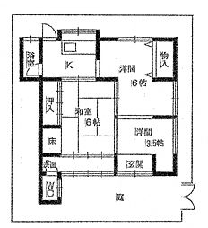 [一戸建] 兵庫県神戸市東灘区西岡本4丁目 の賃貸【/】の間取り