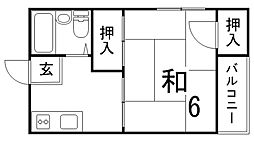 高山マンション[3階]の間取り