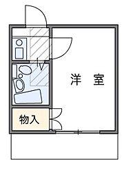 東京都足立区関原3丁目の賃貸アパートの間取り