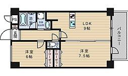 BGC難波タワー[4階]の間取り