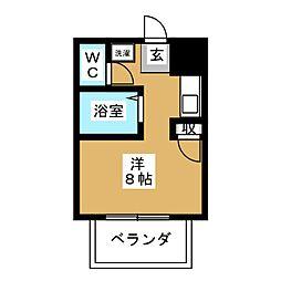 赤尾ハイツ井野[1階]の間取り
