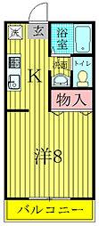 坪山ハイツ[2階]の間取り