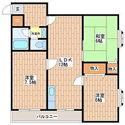 日栄ビル3号館[403号室]の間取り