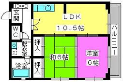 第一大野ビル[2階]の間取り