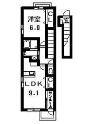 アーバニタ・リキ[201号室]の間取り