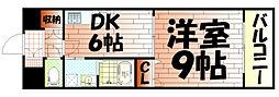 ギャラン吉野町[605号室]の間取り