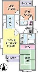 神奈川県藤沢市辻堂6丁目の賃貸マンションの間取り