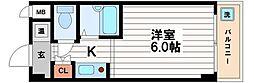 ドミール堺筋本町[10階]の間取り