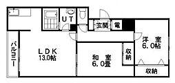M・マエダI[303号室]の間取り