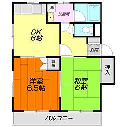 メゾン・ド・カルムA[1階]の間取り