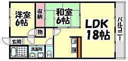 大阪府和泉市唐国町1丁目の賃貸マンションの間取り