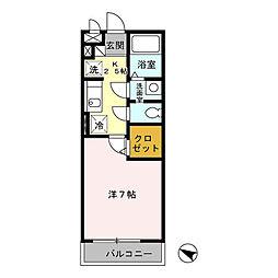 パピヨン南大沢[302号室]の間取り
