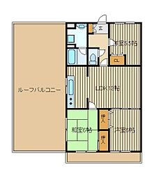 モアメーム[6階]の間取り