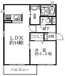 大阪府大阪市中央区千日前2丁目の賃貸マンションの間取り