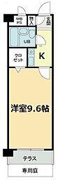 愛知県名古屋市千種区幸川町2丁目の賃貸マンションの間取り