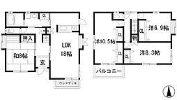 [一戸建] 兵庫県川西市大和西4丁目 の賃貸【/】の間取り