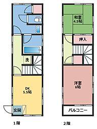 [一戸建] 神奈川県横浜市鶴見区尻手3丁目 の賃貸【/】の間取り