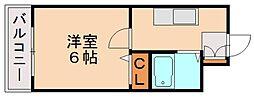 メゾンドルソール[6階]の間取り