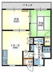 レジデンスカシマ[305号室]の間取り