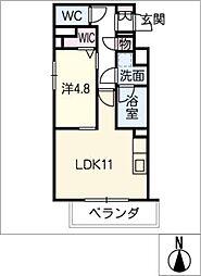 IE 新栄[1階]の間取り