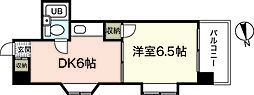 パティシエール吉川[6階]の間取り