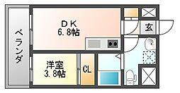 ルネッサンス21博多[6階]の間取り