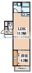 シティーコート徳庵 3階1DKの間取り