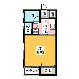 TYハイツ[2階]の間取り