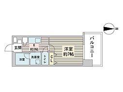 S-RESIDENCE円山表参道 8階1Kの間取り