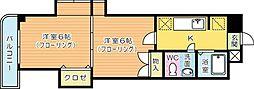 木下鉱産ビル[601号室]の間取り