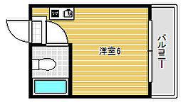 ブランコート姫島公園[509号室]の間取り