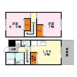 [タウンハウス] 滋賀県甲賀市水口町宇川 の賃貸【/】の間取り
