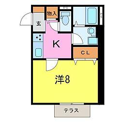 仮)井ヶ谷町1K共同住宅[101号室]の間取り