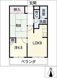 ランパート鳴子[2階]の間取り