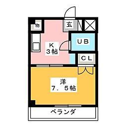 ベストハイツ三ツ井公園[3階]の間取り